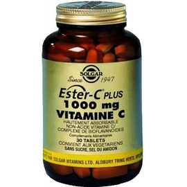 Ester-c plus vitamine c 1000mg 30 comprimés - 30.0 unites - vitamine c et bioflavanoïdes - solgar -140962