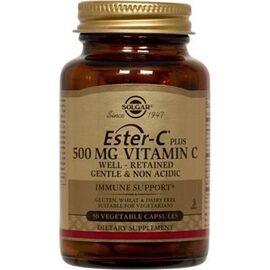 Esther-c plus vitamine c 500mg - 50 gélules végétales - solgar -202706