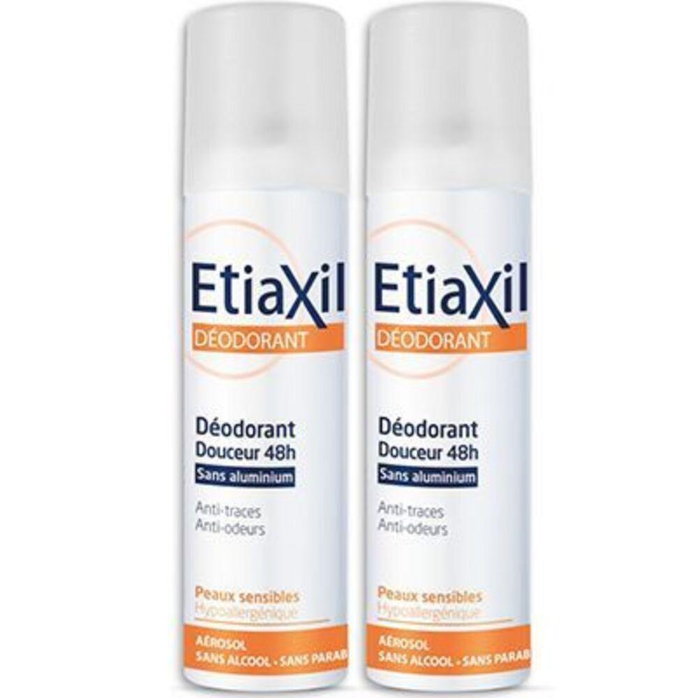 Etiaxil déodorant douceur 48h sans aluminium lot de 2 x 150ml - etiaxil -221333