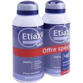 Etiaxil déodorant men aérosol 2x150ml - etiaxil -226792