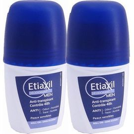 Etiaxil déodorant men roll-on 2x50ml - etiaxil -226793