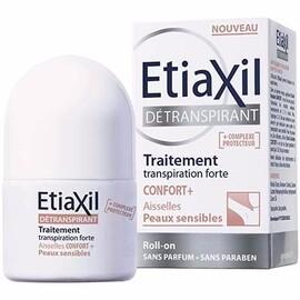 Etiaxil détranspirant traitement transpiration forte confort+ aisselles roll-on 15ml - etiaxil -214258