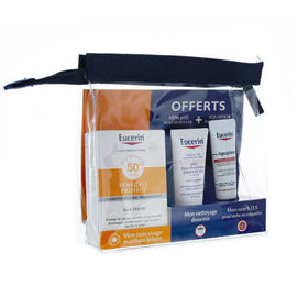 Eucerin sun trousse sensitive protect 50+spf 50ml + mini huile de douche & aquaphor - eucerin -224327