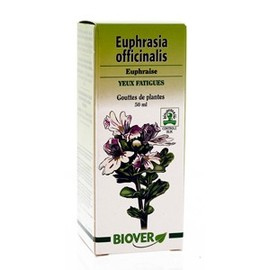 Euphrasia officinalis (euphraise) bio - 50.0 ml - gouttes de plantes - teintures mères - biover Le remède des yeux fatigués-8973