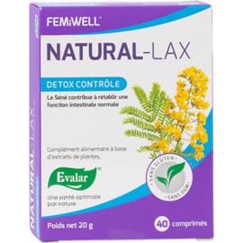 Evalar natural-lax detox contrôle 40 comprimés - evalar -226245