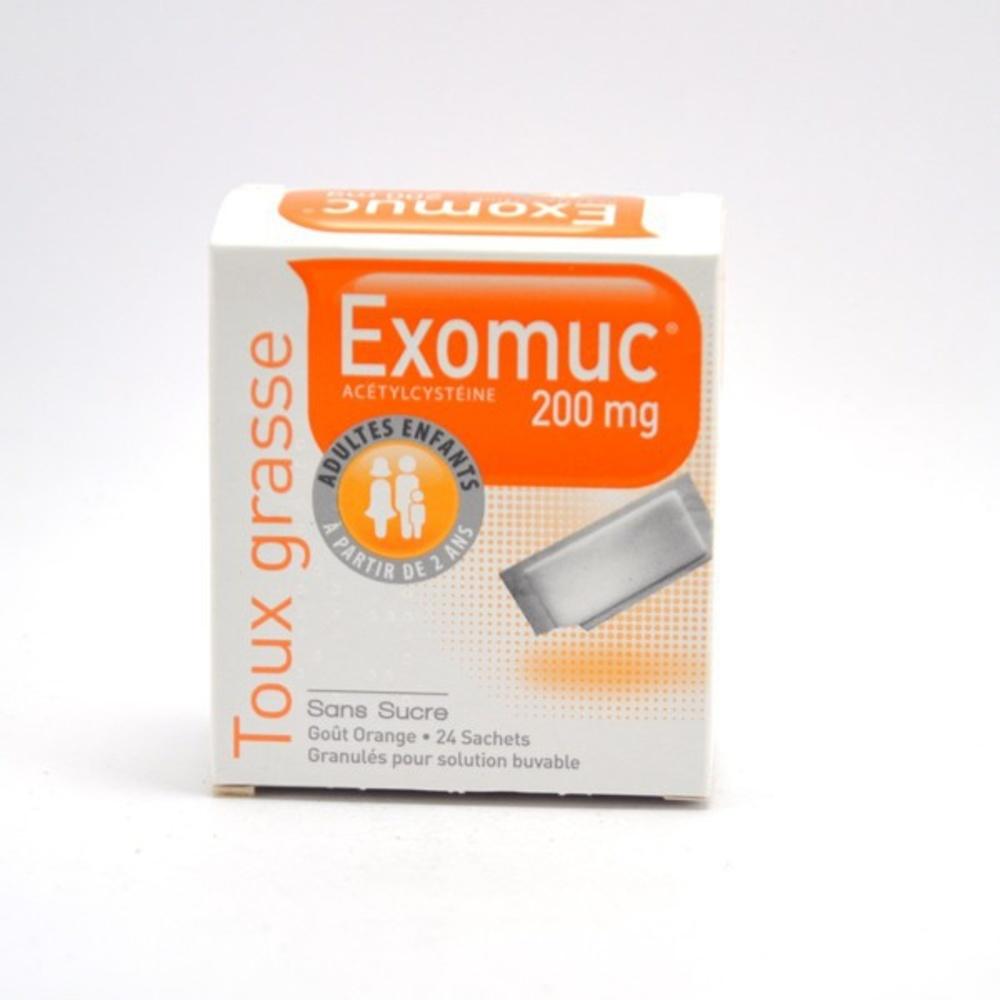 Exomuc 200mg - 24 sachets - bouchara recordati -193023