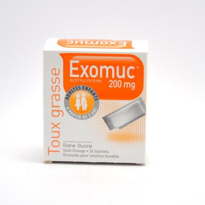 Exomuc 200mg - 24 sachets Bouchara recordati-193023