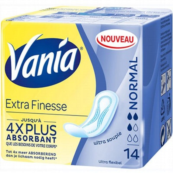 Extra finesse+ normal 14 serviettes Vania-214680