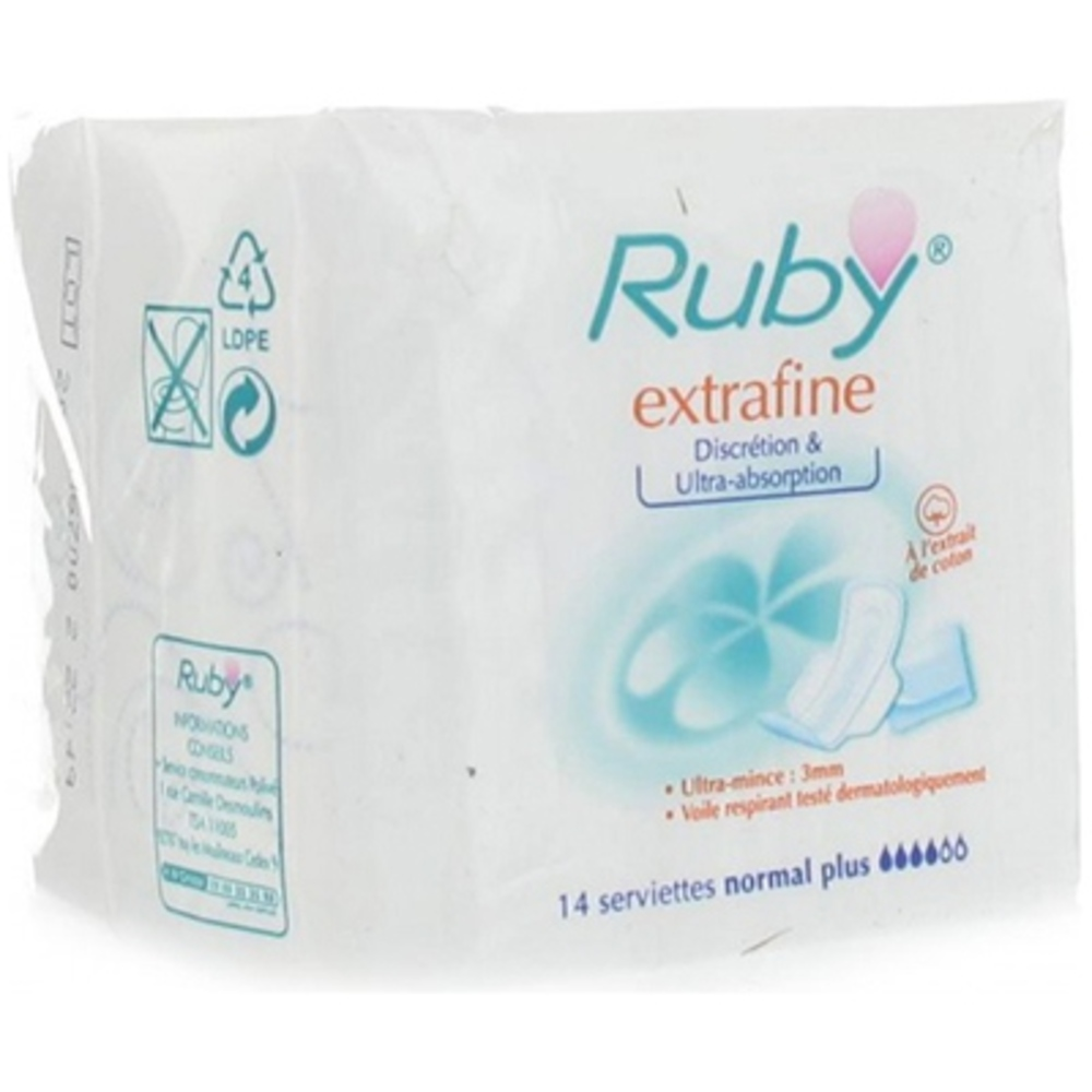 Extrafine serviettes normal plus - ruby -145985
