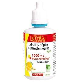 Extrait de pépins de pamplemousse - 100.0 ml - vitalité - super diet -125758