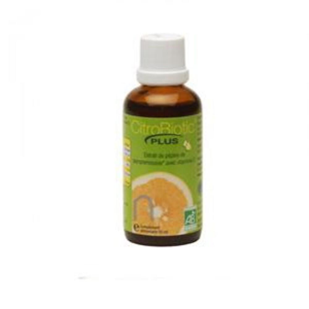Extrait pamplemousse plus bio - flacon verre 50 ml - divers - citrobiotic -134744