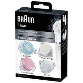 Face brosses de remplacement x4 - braun -203756