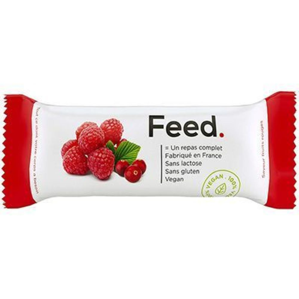 FEED Barre Repas Complet Fruits Rouges 406kcal 100g - Feed -222077