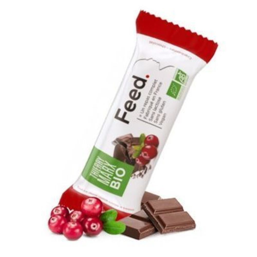 Feed barre repas complet thierry marx bio cranberries chocolat 366kcal 100g - feed -222074
