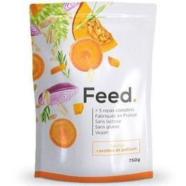 Feed poudre 5 repas complets carottes et potiron 650kcal 750g - feed -222411
