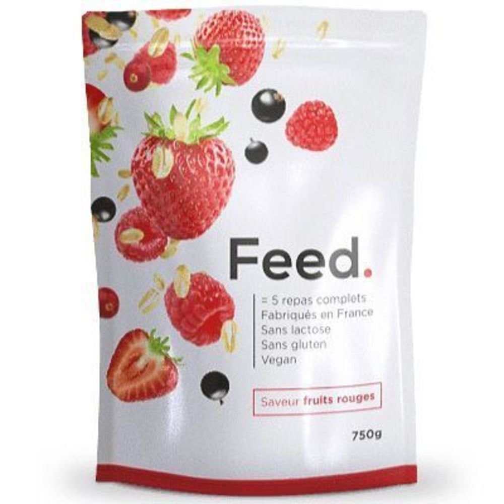 Feed poudre 5 repas complets fruits rouges 650kcal 750g - feed -222412