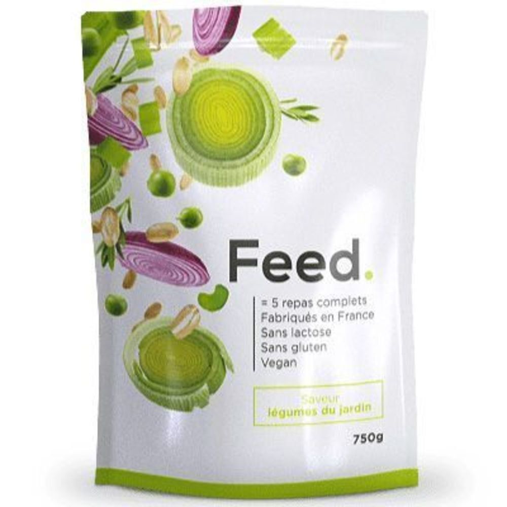 Feed poudre 5 repas complets légumes du jardin 652kcal 750g - feed -222413