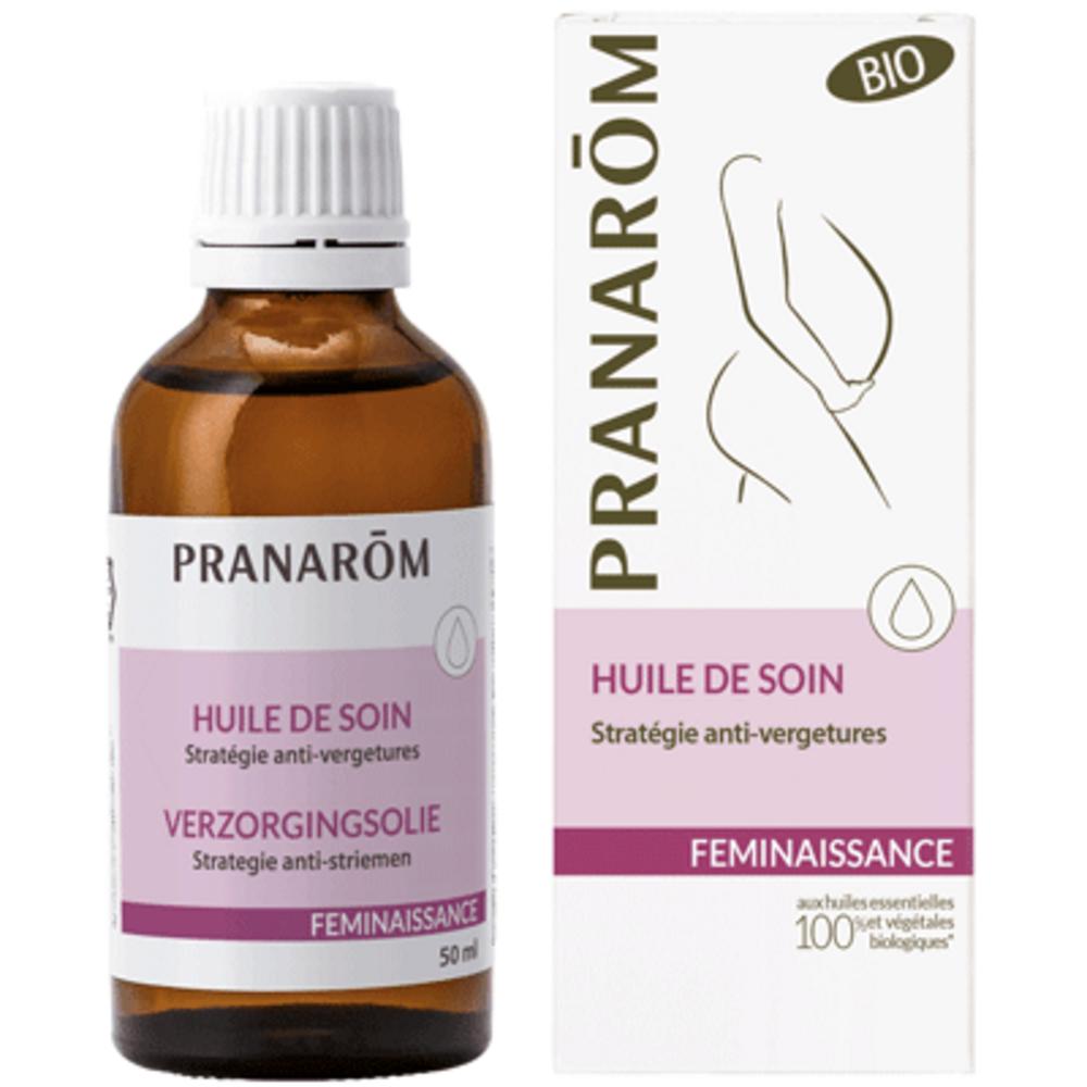 Féminaissance huile de soin stratégie anti-vergetures bio - 50.0 ml - grossesse et maternité - pranarom nourrit la peau et préserve son élasticité.-12363