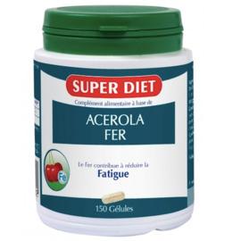 Fer + acerola - 150 gélules - 150.0 unites - les super nutriments - super diet -140378