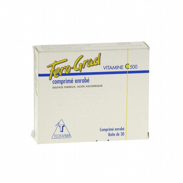 Fero-grad vitamine c 500mg - 30 comprimés Teofarma-193950
