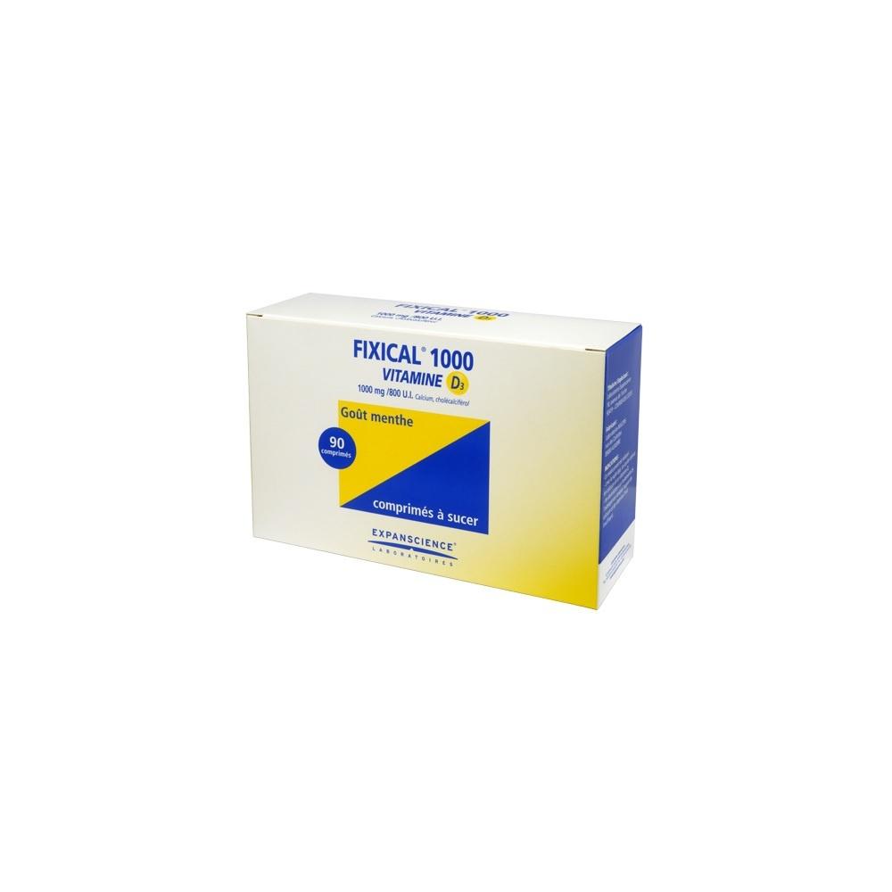 Fixical vitamine d3 1000mg/800ui - 90 comprimés - expanscience -192405