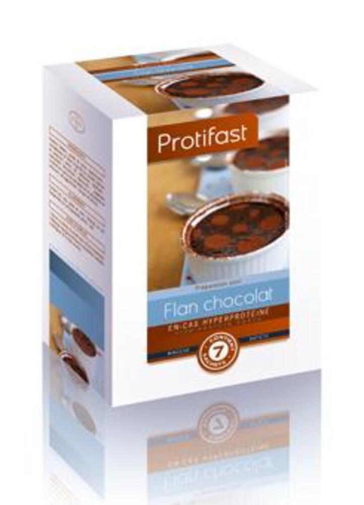 Flan chocolat x7 - protifast Préparation en poudre diététique hyperprotéinée-148433