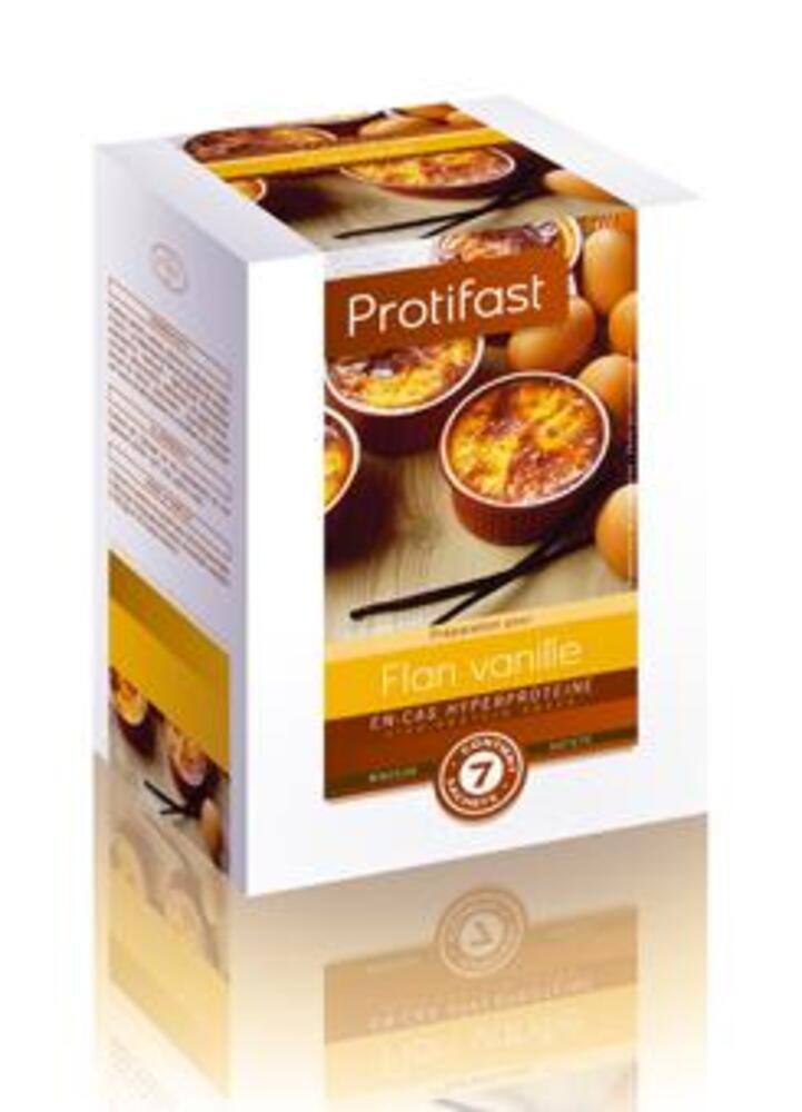 Flan vanille x7 - protifast Préparation en poudre diététique hyperprotéinée-148434