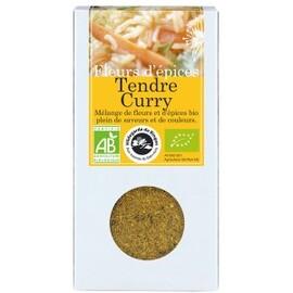 Fleurs d'épices tendre curry bio - boîte de 40 g - divers - florisens -135768