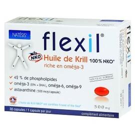 Flexil, huile de krill - 30 capsules - divers - natésis -140069