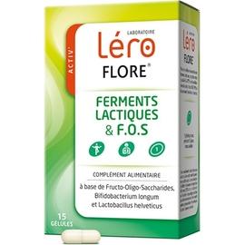 Flore confort intestinal 15 gélules - lero -199810