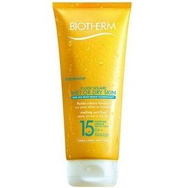 Fluide solaire wet or dry skin spf15 200ml - fluide solaire wet or dry skin - biotherm -213696