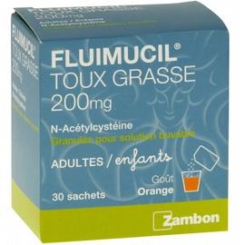 Fluimucil 200mg - 30 sachets - 5.0 g - zambon -192992