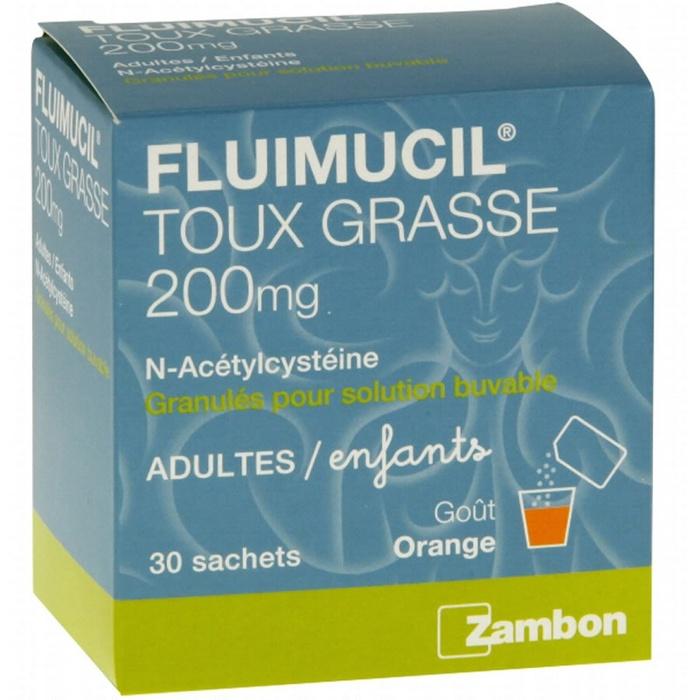 Fluimucil 200mg - 30 sachets Zambon-192992