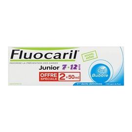 Fluocaril junior dentifrice bubble - lot de 2 x 50ml - 100.0 ml - fluocaril -191368