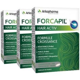 Forcapil hair activ lot de 3 x 30 comprimés - arkopharma -221049