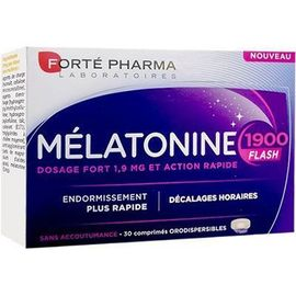 Forte pharma mélatonine 1900 flash 30 comprimés - forté pharma -221078