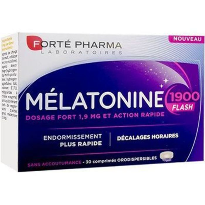 Forte pharma mélatonine 1900 flash 30 comprimés Forté pharma-221078
