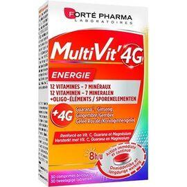 Forte pharma multivit'4g energie 30 comprimés - 30.0 u - forté pharma -226295