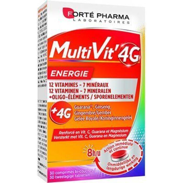 Forte pharma multivit'4g energie 30 comprimés Forté pharma-226295