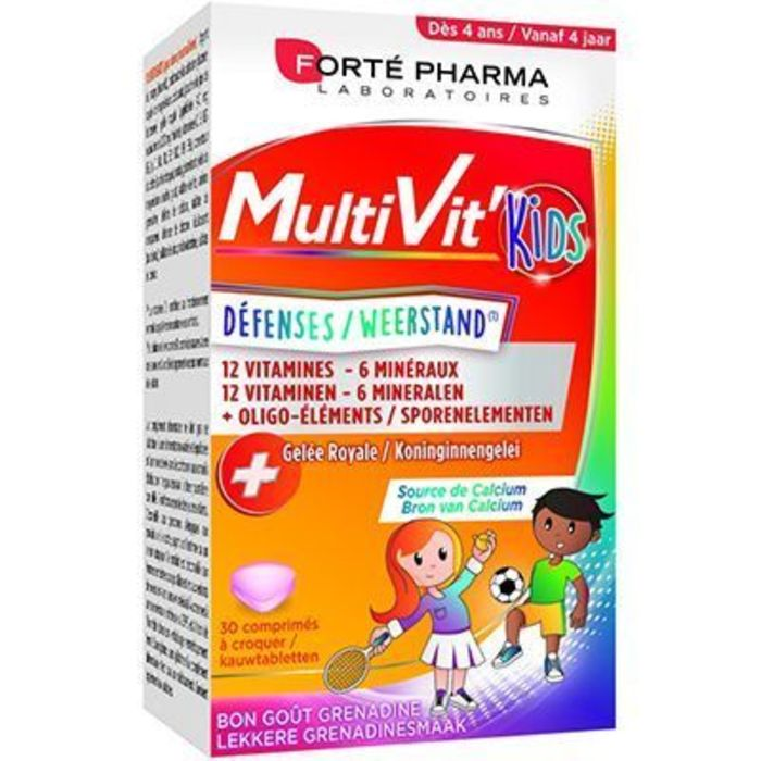 Forte pharma multivit'kids défenses 30 comprimés Forté pharma-226291