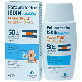 Fotoprotector pediatrics fusion fluid mineral baby spf50+ 50ml - isdin -225887