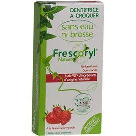 Frescoryl nature dentifrice à croquer parfum fraise gourmande 30 comprimés - frescoryl -226081