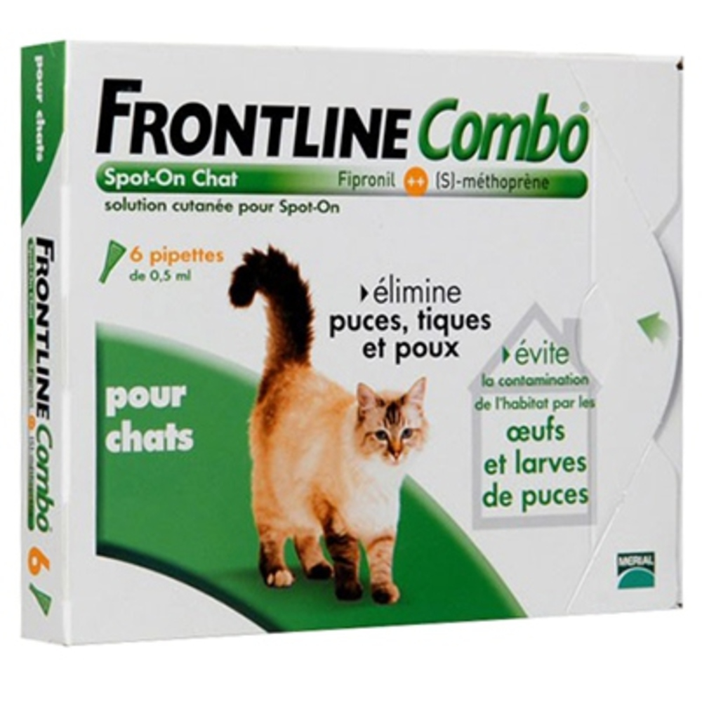 Frontline combo chat - 6 pipettes - merial -144222