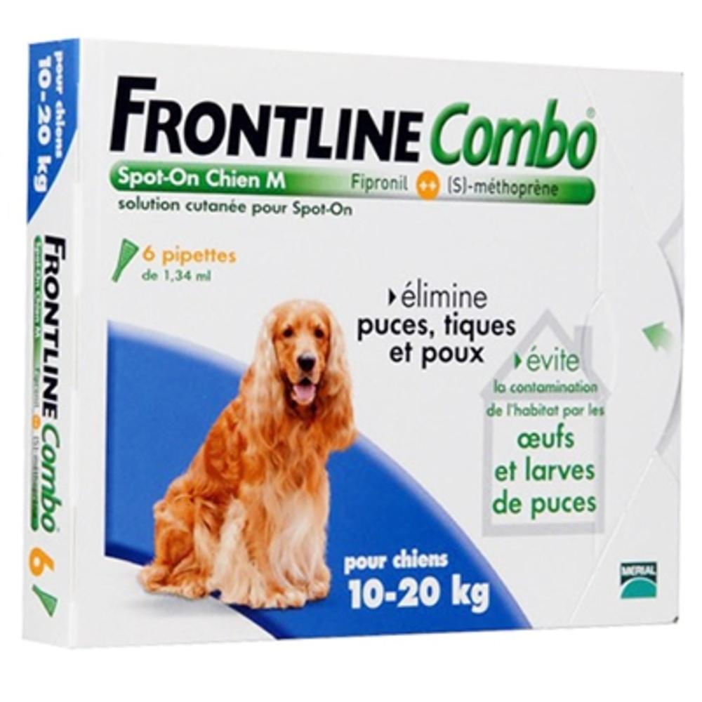 Frontline combo chiens 10 à 20 kg - 6 pipettes - frontline -191259