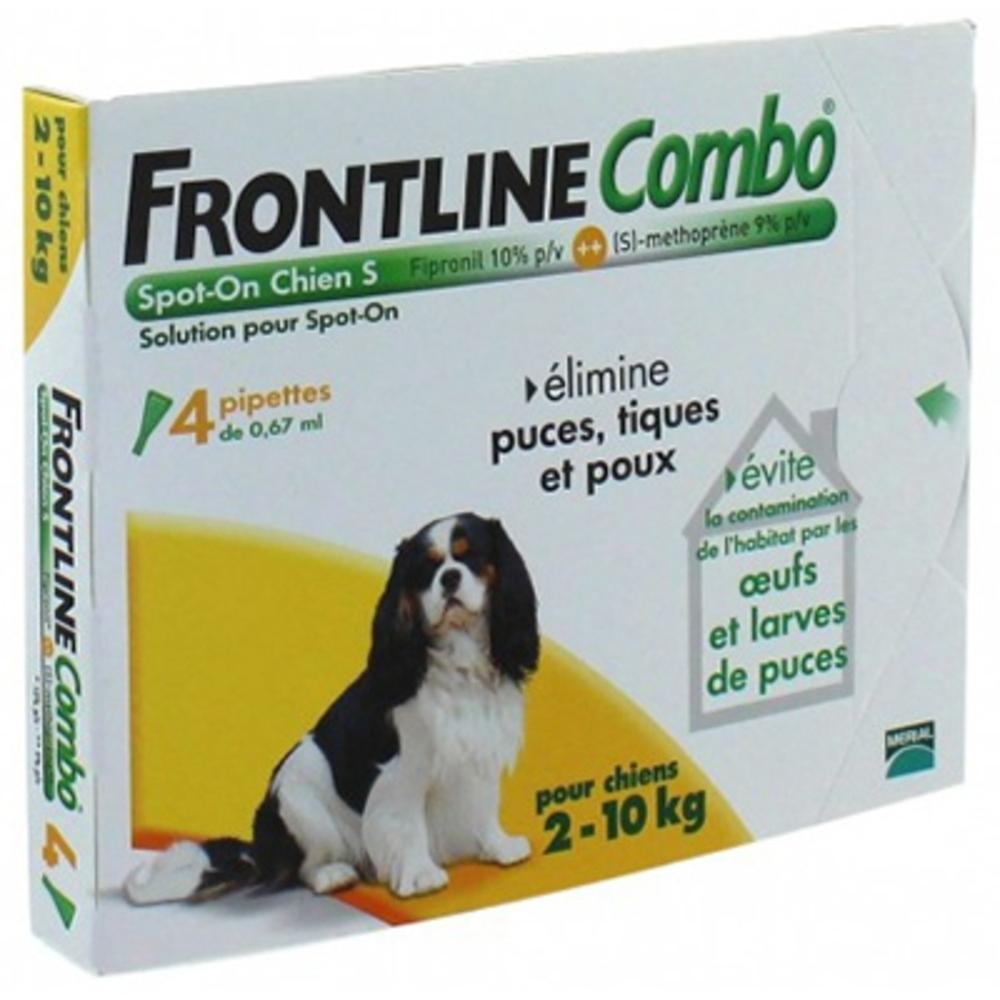 Frontline combo chiens 2 à 10 kg - 4 pipettes - merial -160066