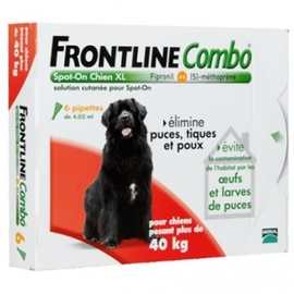Frontline combo chiens 40 à 60 kg - 6 pipettes - frontline -181194