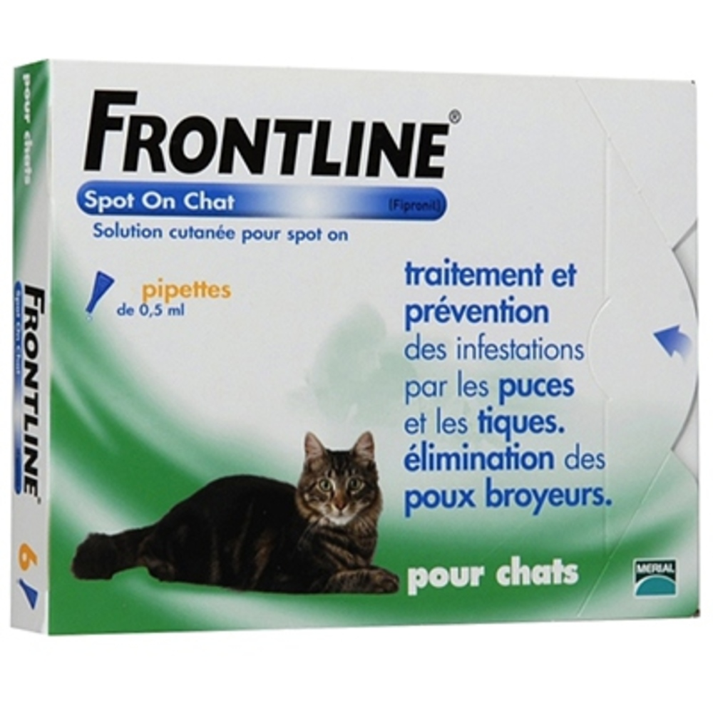 Frontline spot-on chat - 6 pipettes - merial -144209