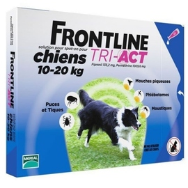 Frontline tri-act chiens 10-20kg - 6 pipettes - merial -204048