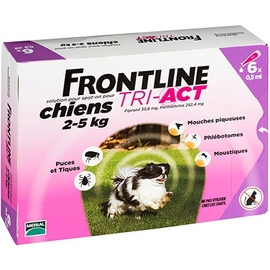 Frontline tri-act chiens 2-5kg - 6 pipettes - frontline -205444