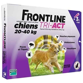 Frontline tri-act chiens 20-40kg - 3 pipettes - merial -191775